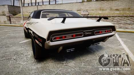 Dodge Challenger 1971 v2.2 PJ5 for GTA 4 back left view