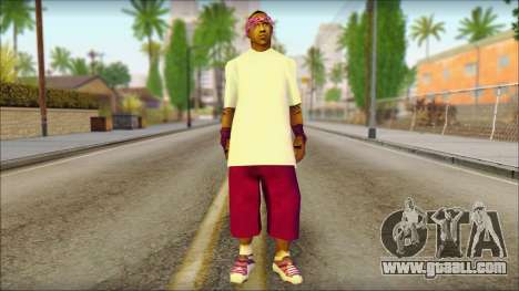 East Side Ballas Skin 1 for GTA San Andreas