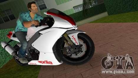 Aprilia RSV4 2009 White Edition I for GTA Vice City right view