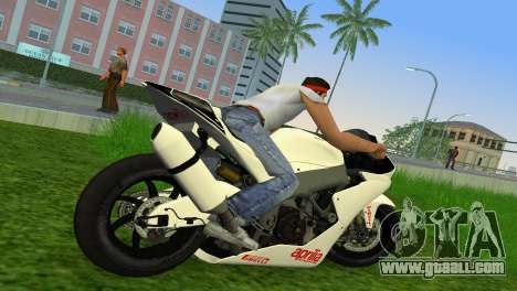 Aprilia RSV4 2009 White Edition II for GTA Vice City right view