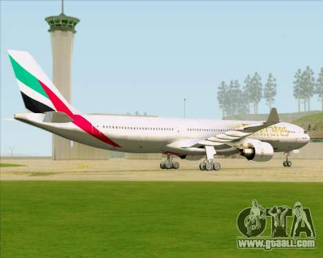 Airbus A330-300 Emirates for GTA San Andreas back view