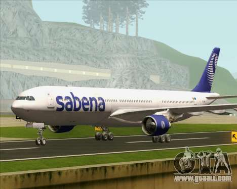Airbus A330-300 Sabena for GTA San Andreas back left view