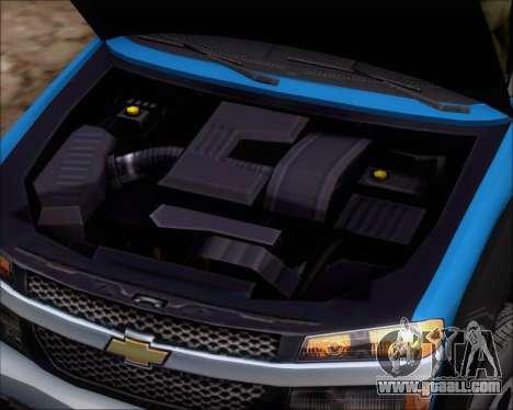 Chevrolet Colorado for GTA San Andreas back view