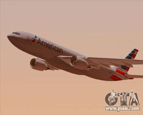 Airbus A330-200 American Airlines for GTA San Andreas interior