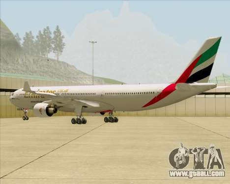 Airbus A330-300 Emirates for GTA San Andreas right view