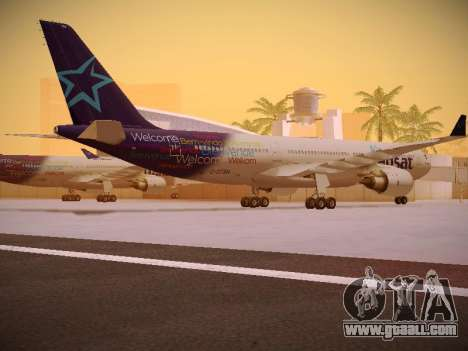 Airbus A330-200 Air Transat for GTA San Andreas right view