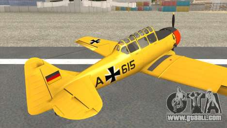 North American T-6 TEXAN AA615 for GTA San Andreas left view