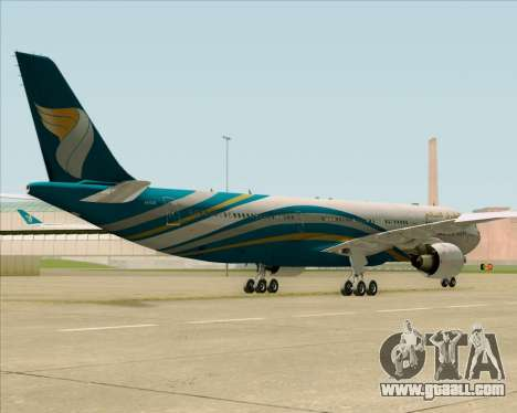Airbus A330-300 Oman Air for GTA San Andreas inner view