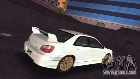 Subaru Impreza WRX 2002 Type 2 for GTA Vice City side view