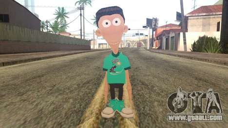 Sheen from Jimmy Neutron for GTA San Andreas