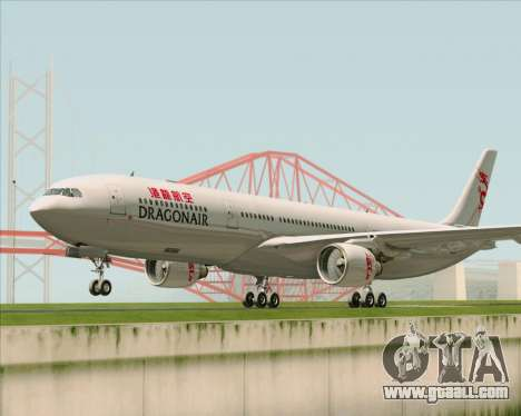 Airbus A330-300 Dragonair for GTA San Andreas left view