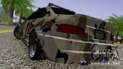 BMW M3 E46 Coupe 2005 Hellaflush v2.0 for GTA San Andreas back left view