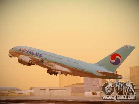 Airbus A380-800 Korean Air for GTA San Andreas right view