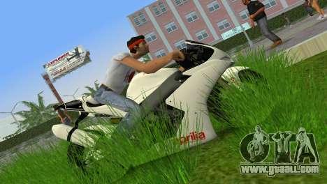 Aprilia RSV4 2009 White Edition II for GTA Vice City left view