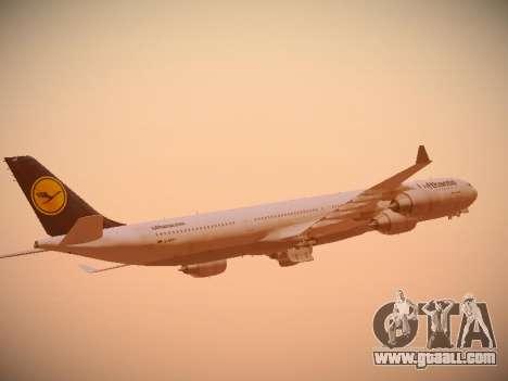 Airbus A340-600 Lufthansa for GTA San Andreas upper view