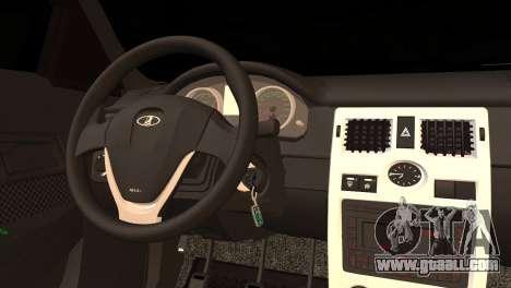 Lada 2170 Priora Black Atack for GTA San Andreas back left view