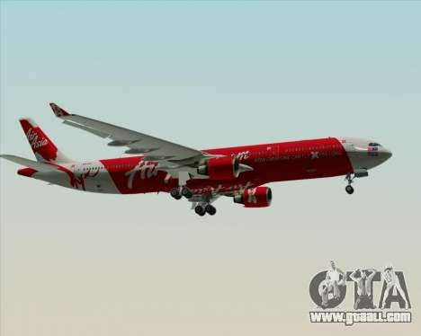 Airbus A330-300 Air Asia X for GTA San Andreas upper view