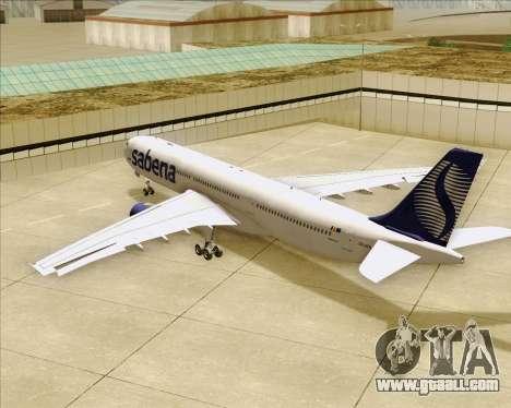 Airbus A330-300 Sabena for GTA San Andreas wheels