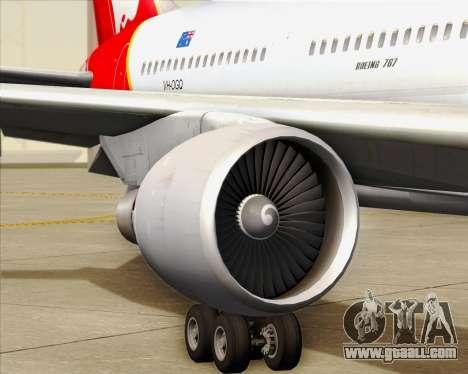 Boeing 767-300ER Qantas for GTA San Andreas wheels