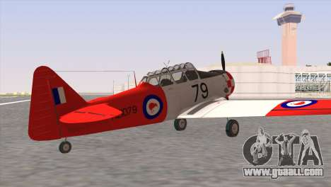 North American T-6 TEXAN NZ1079 for GTA San Andreas left view