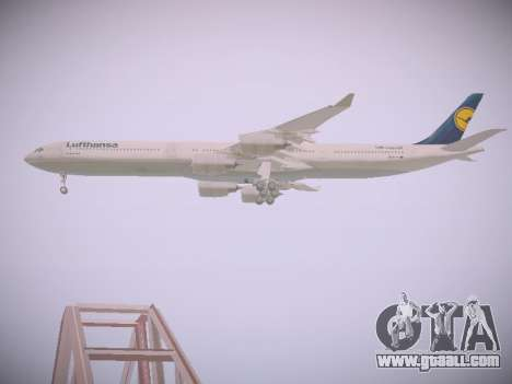 Airbus A340-600 Lufthansa for GTA San Andreas side view