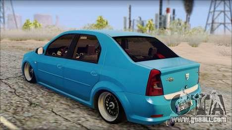 Dacia Logan BS GARAGE for GTA San Andreas left view