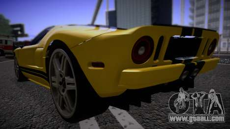 Ford GT 2005 Road version for GTA San Andreas back left view