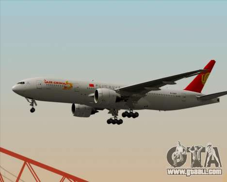 Boeing 777-200ER Air China for GTA San Andreas back left view