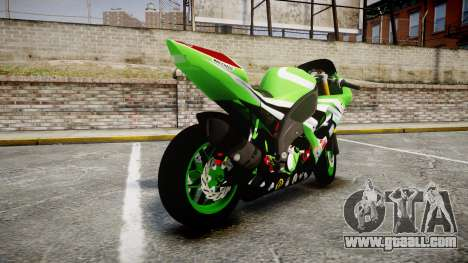Kawasaki Ninja ZX-10R for GTA 4 back left view