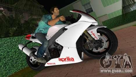 Aprilia RSV4 2009 White Edition I for GTA Vice City
