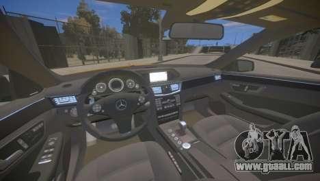 Mercedes-Benz E63 AMG для GTA 4 for GTA 4 inner view
