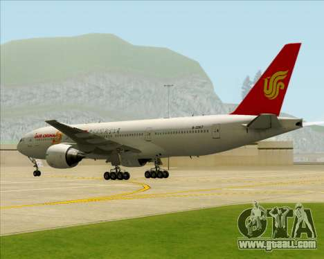 Boeing 777-200ER Air China for GTA San Andreas bottom view