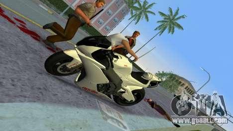 Aprilia RSV4 2009 White Edition II for GTA Vice City back view