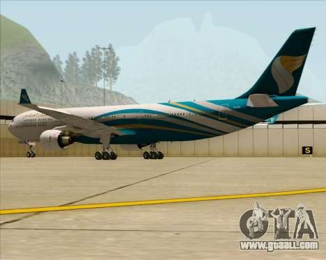 Airbus A330-300 Oman Air for GTA San Andreas back view