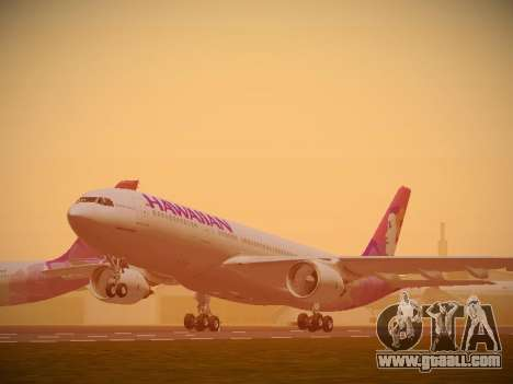 Airbus A330-200 Hawaiian Airlines for GTA San Andreas back left view