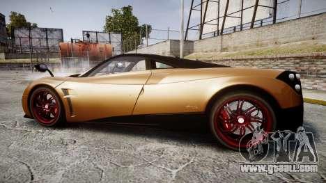 Pagani Huayra 2013 for GTA 4 left view
