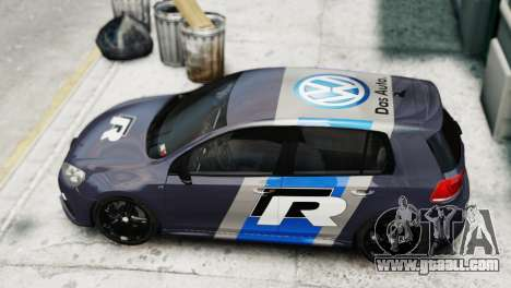Volkswagen Golf R 2010 Polo WRC Style PJ2 for GTA 4 back left view