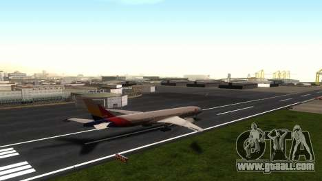 Boeing 777-280ER Asiana Airlines for GTA San Andreas back view