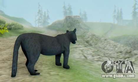 Black Panther (Mammal) for GTA San Andreas second screenshot