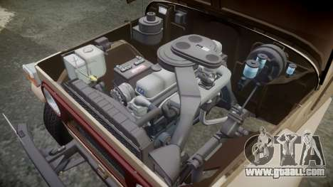 Toyota FJ40 Land Cruiser 1978 v1.7 for GTA 4 inner view