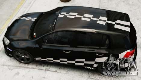 Volkswagen Golf R 2010 MTM Paintjob for GTA 4 back left view