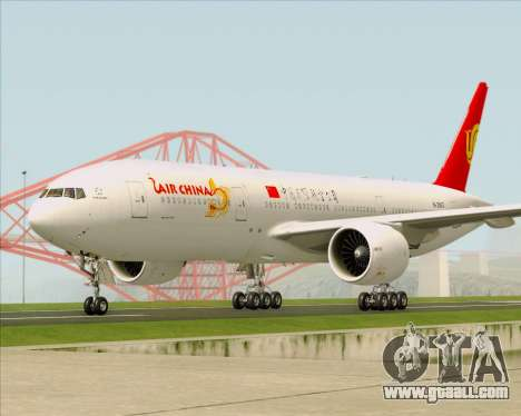 Boeing 777-200ER Air China for GTA San Andreas inner view