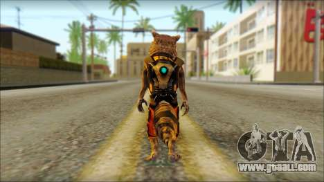 Guardians of the Galaxy Rocket Raccoon v2 for GTA San Andreas second screenshot