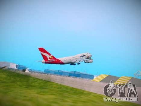 Boeing 747-438 Qantas Boxing Kangaroo for GTA San Andreas right view
