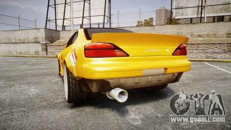 Nissan Silvia S15 Street Drift [Updated] for GTA 4 back left view