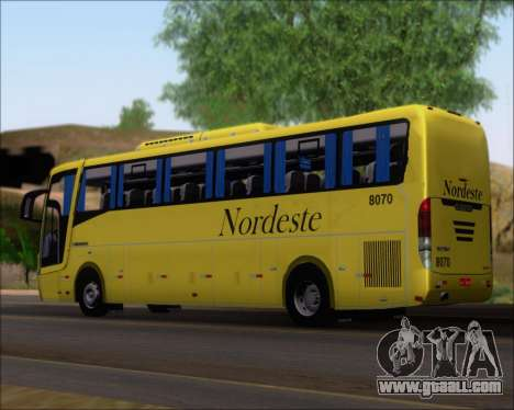 Busscar Elegance 360 Viacao Nordeste 8070 for GTA San Andreas left view