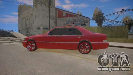 Mercedes-Benz S600 W140 for GTA 4 back left view