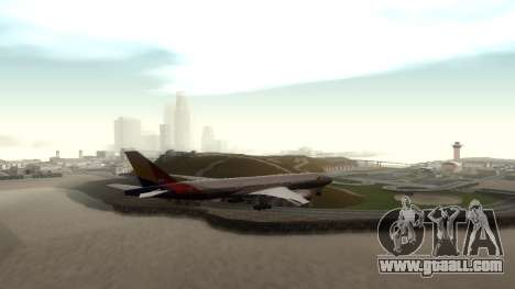 Boeing 777-280ER Asiana Airlines for GTA San Andreas right view