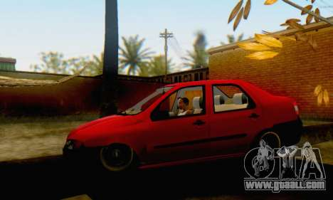 Fiat Siena 1998 for GTA San Andreas back left view
