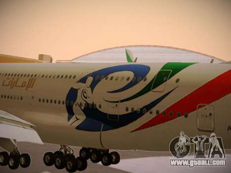 Airbus A380-800 Emirates Rugby World Cup for GTA San Andreas inner view